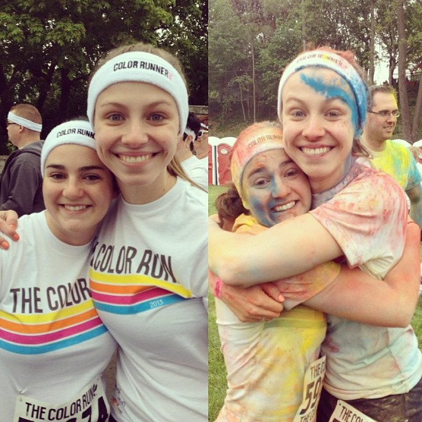 Before_and_after_the_Color_Run_with_my_best_friend_Lauren_